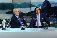 27/05/2014 Roma spot per il programma MAXINHO DO BRASIL, nella foto Vincenzo D'Amico, Marco Civoli