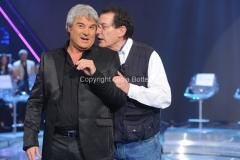 5/05/2011 Roma, Me lo dicono tutti, prima puntata, nella foto il conduttore Pino Insegno e joceline