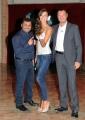 29/09/2012 Roma prima puntata di Mazzogiorno in Famiglia, nella foto : Amedeus, Laura Barriales, Sergio Friscia
