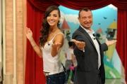 29/09/2012 Roma prima puntata di Mazzogiorno in Famiglia, nella foto : Amedeus, Laura Barriales