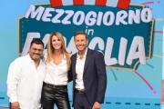 """Foto/IPP/Gioia Botteghi 18/09/2018 Roma, trasmissione """"mezzogiorno in famiglia"""", nella foto: Massimiliano Ossini e Adriana Volpe con Sergio Friscia  Italy Photo Press - World Copyright"""