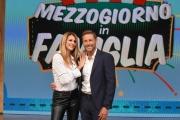 """Foto/IPP/Gioia Botteghi 18/09/2018 Roma, trasmissione """"mezzogiorno in famiglia"""", nella foto: Massimiliano Ossini e Adriana Volpe  Italy Photo Press - World Copyright"""