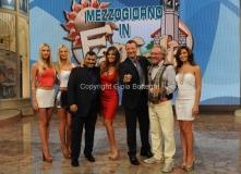 21/09/2014 Roma mezzogiorno in famiglia, Alessia Ventura e Amadeus, Sergio Friscia , le sorelle Jas e Jay Giglio, Roberta Gangeri, Gianni Mazza