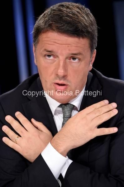 Foto/IPP/Gioia Botteghi Roma 06/10/2019 Puntata di Mezz'ora in più di Lucia Annunziata , ospite Matteo Renzi Italy Photo Press - World Copyright