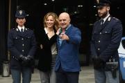 24/02/2017 Roma presentazione della fiction MONTALBANO, nella foto Sonia Bergamasco e Luca Zingaretti