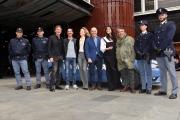 24/02/2017 Roma presentazione della fiction MONTALBANO, nella foto cast e polizia vera