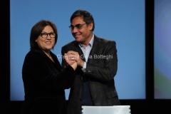 23/12/2012 Roma, Lucia Annunziata con il nuovo direttore di rai 3 Andrea Vianello