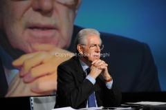 23/12/2012 Roma, Mario Monti ospite di Lucia Annunziata nella trasmissione di rai tre In mezz'ora