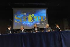 Roma 22/12/2010 conferenza stampa in rai su San Remo, nella foto: Paolo Garimberti, Mauro Mazza, Direttore Rai 1,Gianmarco Mazzi, Direttore artistico Festival, Gianni Morandi, Mauro Masi