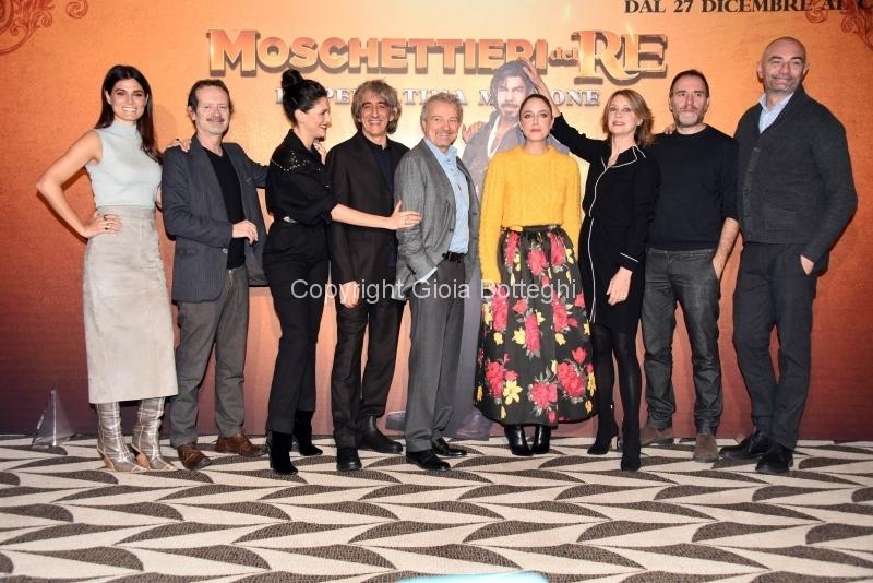Foto/IPP/Gioia Botteghi Roma18/12/2018 Presentazione del film I moschettieri del Re, nella foto:cast Italy Photo Press - World Copyright