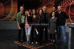 29/10/2014 Roma Trasmissione Nautilus, nella foto il conduttore Federico Taddia il regista Andrea Segre e tutta la redazione