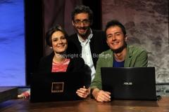 29/10/2014 Roma Trasmissione Nautilus, nella foto il conduttore Federico Taddia e Silvia Bancivelli e Davide Coero Borga