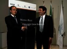 Roma 19/06/2012 presentazione del documentario rai NEL CUORE DELLA CINA, nella foto Duilio Gimmaria e l'ambasciatore Cinese in Italia Ding Wei