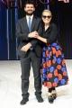 24/11/2016 Roma Presntazione della trasmissione di rai uno Nemicheamatissime, nella foto Hether Parisi con il direttore di Rai uno Fabiano