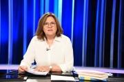 Foto/IPP/Gioia Botteghi Roma 19/05/2019 trasmissione di rai tre Mezz'ora in più, ultima delle quattro puntate sulle elezioni europee, ospite nella foto: Lucia Annunziata Italy Photo Press - World Copyright