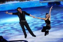 21/02/2015 Roma. prima puntata di Notti sul ghiaccio rai uno, nella foto: Girgio Rocca e Eve Bentley