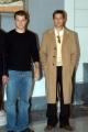 conferenza stampa del film Ocean's twelve.Matt Damon Brad Pitt