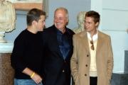 conferenza stampa del film Ocean's twelve. Matt Damon Brad Pitt ed il produttore Jerry Weintraub