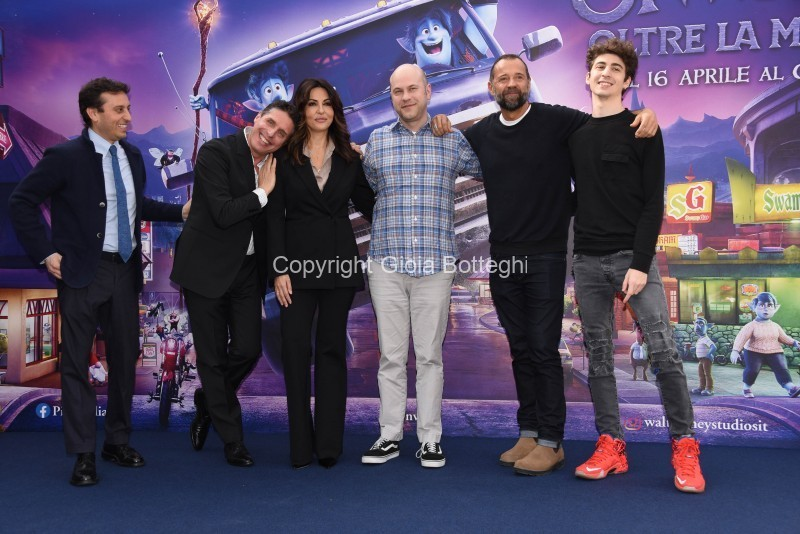 Foto/IPP/Gioia Botteghi Roma 25/02/2020 Presentazione del film di animazione - onward- le voci italiane di, nella foto: filmmaker Dan Scanlon, le voci italiane Sabrina Ferilli, Fabio Volo, Favij, Raul Cremona, David Parenzo Italy Photo Press - World Copyright