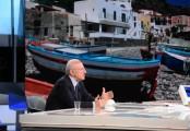 Foto/IPP/Gioia Botteghi Roma 09/05/2021 Trasmissione Mezz'ora in più, ospite di Lucia Annunziata il presidente della regione Campania Vincenzo De Luca Italy Photo Press - World Copyright