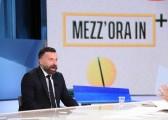 Foto/IPP/Gioia Botteghi Roma 09/05/2021 Trasmissione Mezz'ora in più, ospite di Lucia Annunziata Alessandro Zan deputato PD Italy Photo Press - World Copyright