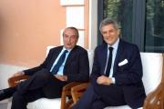 Gioia Botteghi/OMEGA 7/07/05Presentazione del palinsesto autunnale de La7nelle foto: Giulio Giustiniani direttore delle News ed Alain Elkann