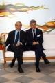 Presentazione del palinsesto autunnale de La7nelle foto: Giulio Giustiniani direttore delle News ed Alain Elkann