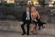 Roma 16/06/2010 Presentazione a castel Sant'Angelo dei palinsesti rai 2010_2011, nella foto Michele Cucuzza e Licia Colò