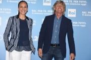 Foto/IPP/Gioia Botteghi 05/07/2016 Roma presntazione dei palinsesti RAI, nella foto: Emerson Gattafoni e Valeria Cagnoni