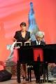 Roma 28/09/2010 _ Prima puntata del programma di raitre, PARLA CON ME, nella foto Serena Dandini, Rocco Tanica