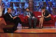 Roma 28/09/2010 _ Prima puntata del programma di raitre, PARLA CON ME, nella foto Serena Dandini, Dario Vergassola, Massimo Cacciari