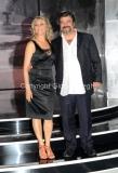 19/09/2012 Roma trasmissione rai PER TUTTA LA VITA prima puntata, nella foto: Francesco Pannofino e la moglie Emanuela Rossi