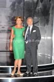 19/09/2012 Roma trasmissione rai PER TUTTA LA VITA prima puntata, nella foto: Antonio Caprarica e la moglie Iolanta Miroshnikova