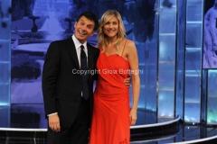 19/09/2012 Roma trasmissione rai PER TUTTA LA VITA prima puntata, nella foto: N. Stefanenko e F. Frizzi