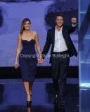 19/09/2012 Roma trasmissione rai PER TUTTA LA VITA prima puntata, nella foto: Emanuele Filiberto e Clotilde Courau