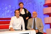 Roma 05/10/2009 per un pugno di libri rai tre per ragazzi in onda la domenica nella foto Neri Marcorè, Piero Dorfles, Giancarlo Ratti