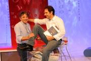 Roma 05/10/2009 per un pugno di libri rai tre per ragazzi in onda la domenica nella foto Neri Marcorè con il regista Igor Skofic