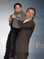 Foto/IPP/Gioia Botteghi Roma12/12/2019 presentazione del film Pinocchio, nella foto   Roberto Benignie e Federico Ielapi Italy Photo Press - World Copyright