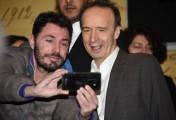 Foto/IPP/Gioia Botteghi Roma12/12/2019 presentazione del film Pinocchio, nella foto Roberto Benigni e un selfie tra la folla Italy Photo Press - World Copyright