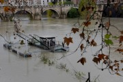 Foto/IPP/Gioia Botteghi Roma 08/11/2020 Veduta del fiume Tevere , ponte Umberto I dei manichini sulla banchina galleggiante per impedire l'invasione dei Gabbiani Italy Photo Press - World Copyright
