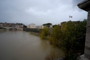 Foto/IPP/Gioia Botteghi Roma 08/11/2020 Veduta del fiume Tevere , ponte Sant'Angelo Italy Photo Press - World Copyright