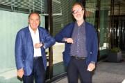 Foto/IPP/Gioia BotteghiRoma 07/09/2020Ritorna Porta a porta per la venticinquesima edizione, nella foto: Bruno Vespa con il direttore di rai uno Stefano ColettaItaly Photo Press - World Copyright