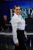 04/02/2014 Roma puntata di porta a porta sui 60 anni della televisione, nella foto: Simona Ventura