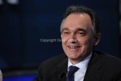 10/10/2012 Roma trasmissione porta a porta, nella foto: Enrico Rossi presidente della regione Toscana