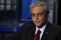 10/10/2012 Roma trasmissione porta a porta, nella foto: Giovanni Chiodi presidente della regione Abruzzo