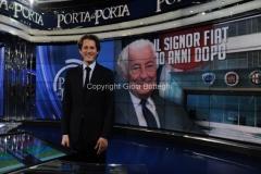 24/01/2013 Roma Porta a porta puntata su Agnelli, nella foto John Elkann