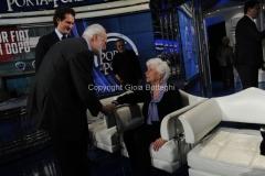 24/01/2013 Roma Porta a porta puntata su Agnelli, nella foto John Elkann e Maria Sole Agnelli ed Eugenio Scalfari