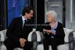 24/01/2013 Roma Porta a porta puntata su Agnelli, nella foto John Elkann e Maria Sole Agnelli