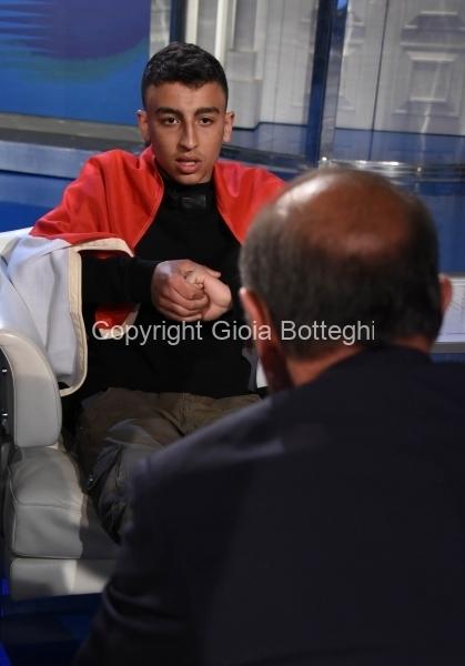 Foto/IPP/Gioia Botteghi Roma 25/03/2019 Puntata di Porta a porta con il piccolo eroe Egiziano , nella foto: Ramy Shehata  Italy Photo Press - World Copyright