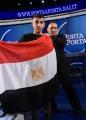 Foto/IPP/Gioia Botteghi Roma 25/03/2019 Puntata di Porta a porta con il piccolo eroe Egiziano , nella foto: Ramy Shehata con il padre Khalid e la bandiera Egiziana Italy Photo Press - World Copyright